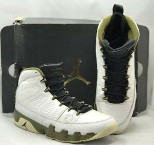 f2e2972148aca3 Nike Air Jordan 9 Retro Statue 302370-109 White Black-Green Sneakers ...