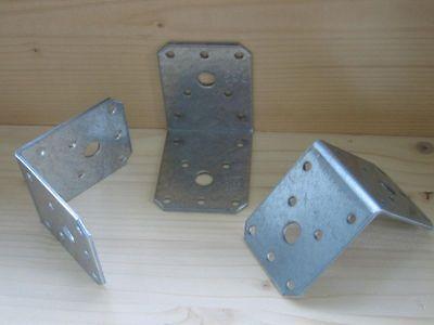 Steg  Stahl verzinkt Holz Verbinder Winkelverbinder 70 x 70 x 55 mm mit Rippe