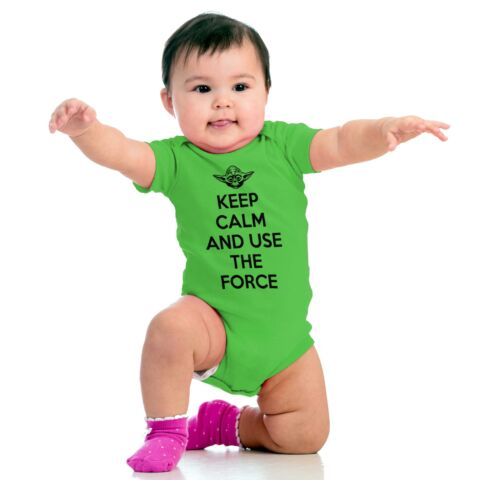 Keep Calm And Stay Nerdy Space Movie Sci Fi Newborn Romper Bodysuit For Babies