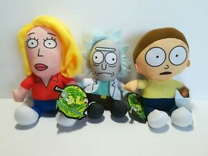 New-Rick-and-Morty-Set-of-3-2020-Licensed-Plush-Stuffed-Toys