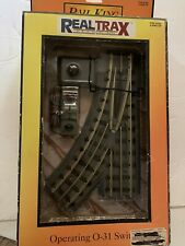 MTH REALTRAX O SCALE OPERATING TRACK SECTION LOT OF  2  PIECES #40-1008