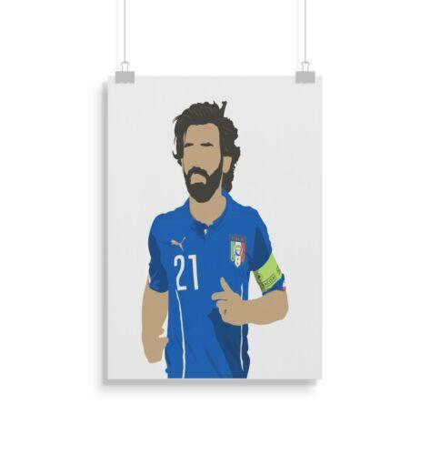 Football Pirlo Print Gift Wall Art Poster Home Decor