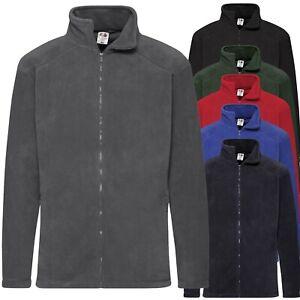 maglione uomo Felpa a giacca leggera 2 tasche  chiusura zip Fruit of the Loom