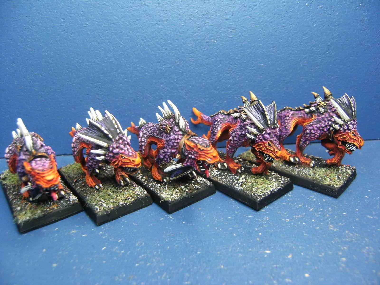 5 Khorne sangue cani dei Demoni del Caos in Metallo dipinta Top 3
