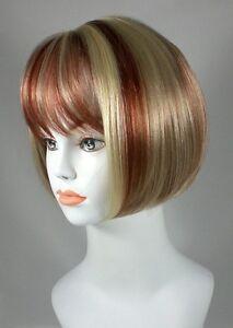 Short Blond Cleopatra Style, Chin-Length Bob Wig Wigs