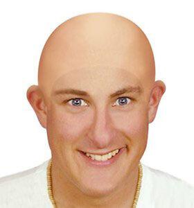 Fake-Bald-Head-Skinhead-Baldy-Clown-Mens-Ladies-Fancy-Dress-Wig-Skull-Cap