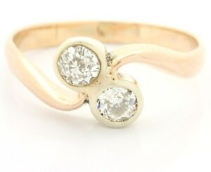 585-14kt-Damen-Altschliff-Brillant-Gold-Ring-Brillanten-Brilliant-Brillantring