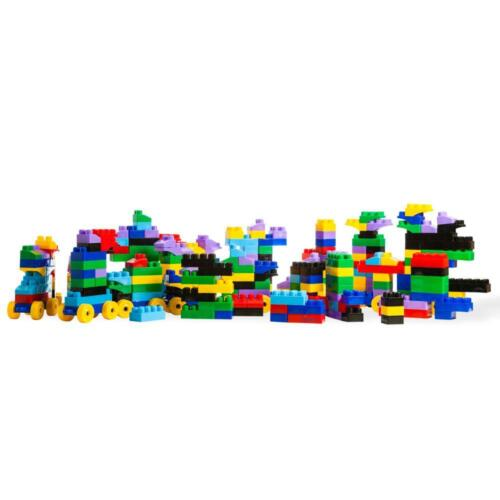 Dimple Soft Kid-Friendly Plastic Multi Colored Building Block Set 300 Pieces