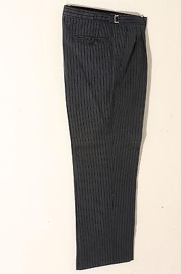 T-0 SMALL SIZES GREY AND BLACK PIN STRIPE MASONIC  TROUSER WEDDING/MORNING/DRESS