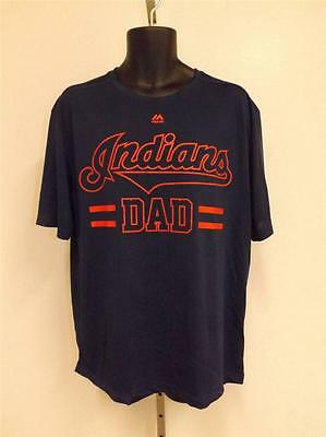 "Coolbase Shirt Von Majestic Stabile Konstruktion L l Neu Cleveland Indians "" Papa "" Herren Gr"