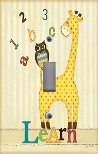 Outlet Covers Nursery Abc Owl Giraffe