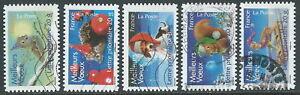 2007-FRANCIA-USATO-NATALE-E-NUOVO-ANNO-AUTOADESIVO-5-VALORI-R22-3
