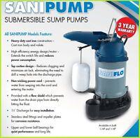 Saniflo Sanipump 1/3 Hp Submersible Sump Pump