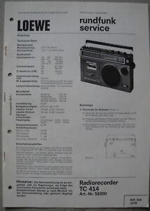 LOEWE-OPTA-TC414-Service-Manual-inkl-Ersatzteilliste