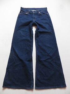 Levi-039-s-Marlene-Jeans-Hose-W-30-L-34-Wide-Leg-Indigo-Denim-extreme-Schlaghose