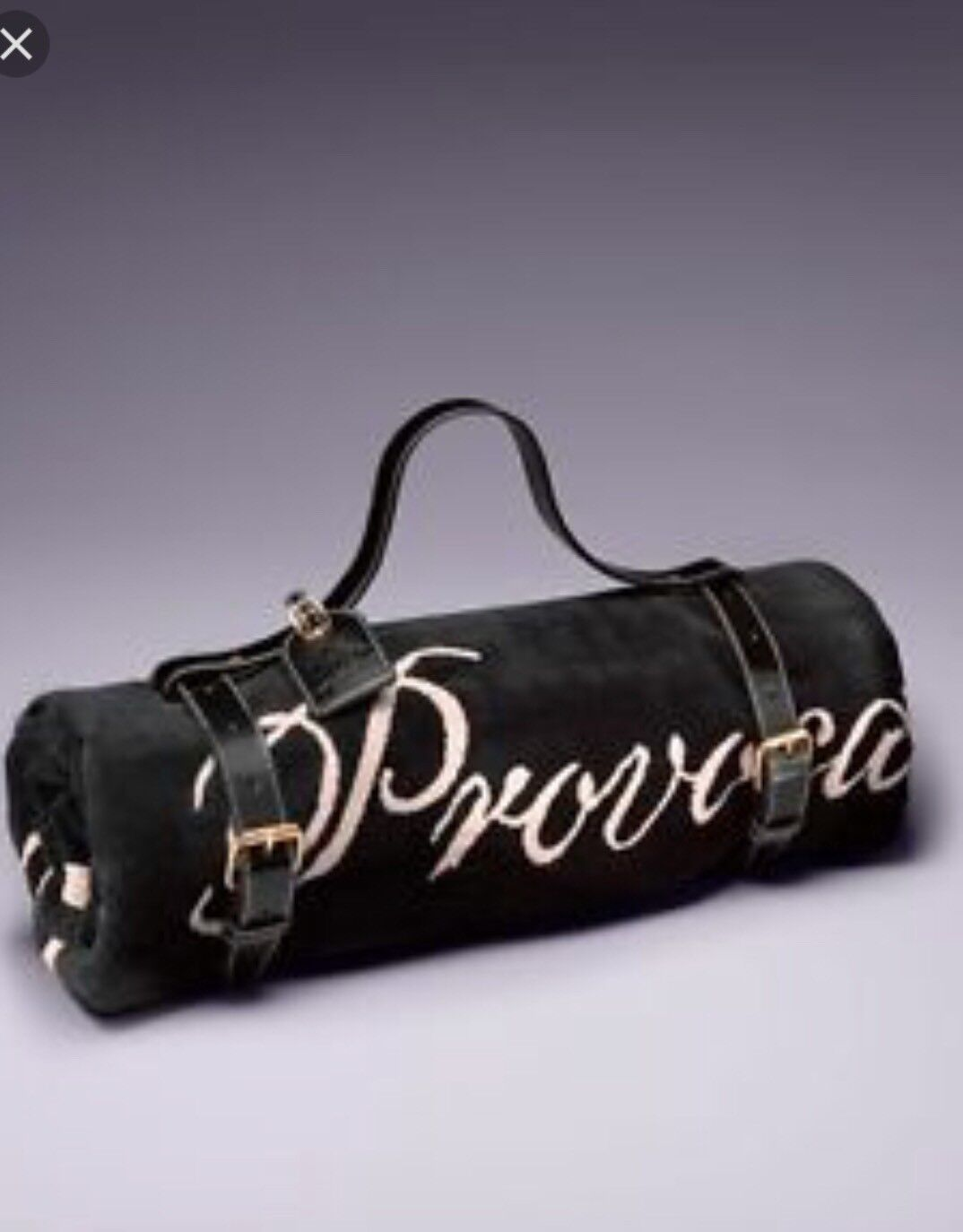 Reduced Rare Agent Provocateur Patent Leather Beach Towel Carrier Holder