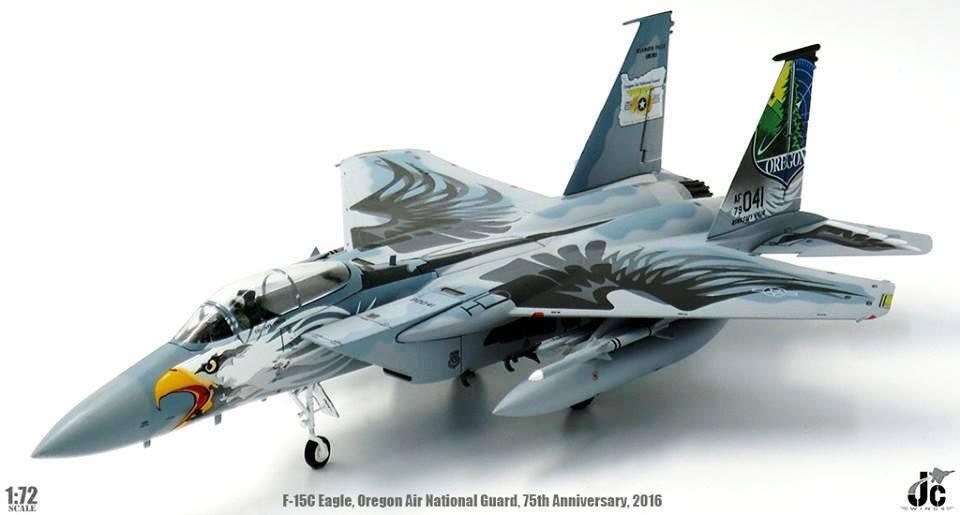 JCW72F15003 1 72 F-15C EAGLE 173RD OREGON AIR NATIONAL GUARD 75TH ANNIVERSARY