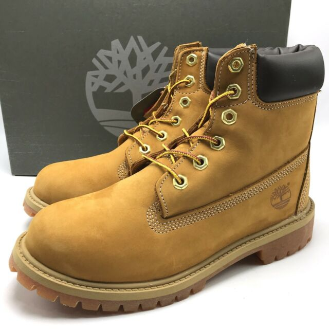 Timberland Junior Waterproof Genuine Leather Winter Boots Beige Shoes