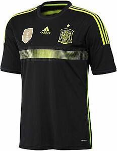 ADIDAS SPAIN AWAY YOUTH JERSEY FIFA WORLD CUP 2014 ESPAÑA Black ... 106720b98