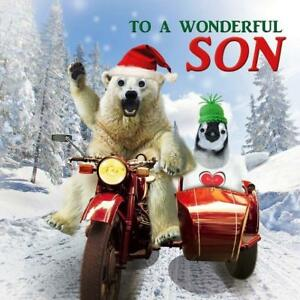 Wonderful-Son-Googlies-Christmas-Card-Tracks-Wobbly-Eyes-Greeting-Cards