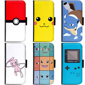 brand new 28f42 fe4ee Details about PIN-1 Game Pokemon A Phone Wallet Flip Case Cover A for  Samsung