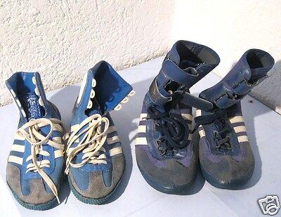 2 Paar uralte Adidias Sneaker / Turnschuhe/ Surfschuhe/ Segelschuhe/ Boxschuhe