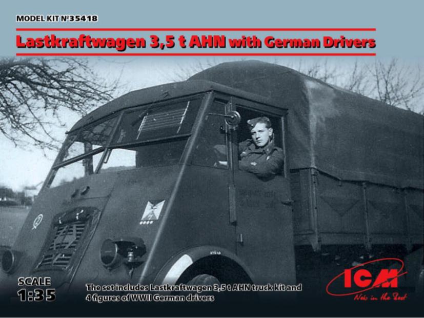 Icm 1 35 Lastkraftwagen 3,5 T Ahn con Tedesco Autisti  35418