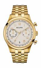 Bulova Men's 97B149 Classic Chronograph Yellow Gold Stainless Steel Dress Watch