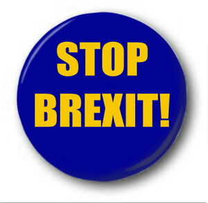 1 INCH BUTTON BADGE ANTI-BREXIT STAY STAR EU PEOPLE/'S VOTE 25MM