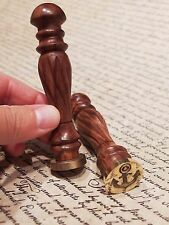 (1) Antique Vintage Style Brass Letter Wax Seal Stamp Anchor