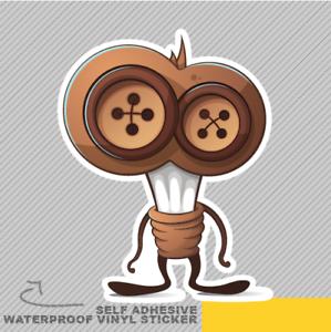 Funny Cute Bulb Button Character Ca Vinyl Sticker Decal Window Car Van Bike 2255