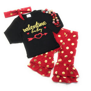 0243249d5 Image is loading Infant-Toddler-Girl-Valentine-Baby-Boutique-Outfit-Kid-