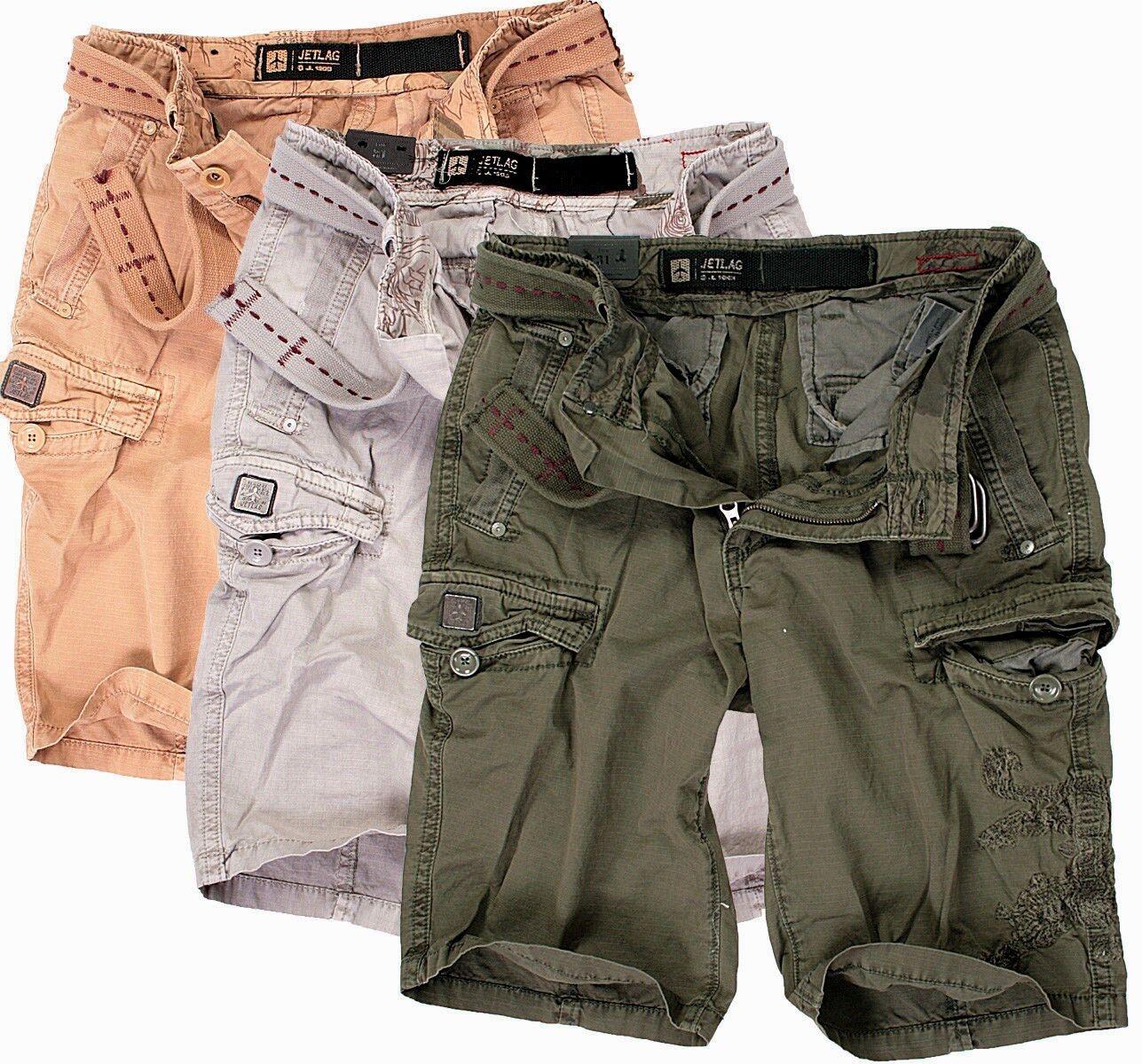 JET LAG Herren Cargo Shorts Kurze Hose Short Bermuda Knielang Sommer 18-016     | Bekannt für seine gute Qualität
