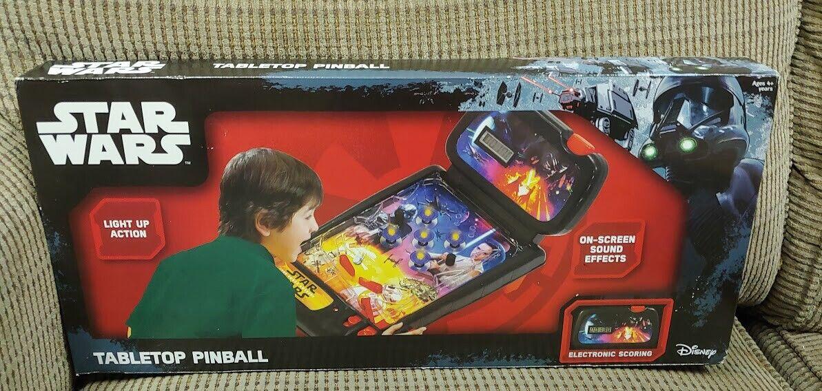 2016 Jakks Pacific Disney StarWars tabletop pinball game light-up action + sound