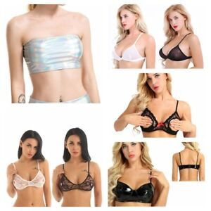5 Pieces Breathable Tube Top Hollow Strapless Bandeau Strapless Sport Bra for Women Favor