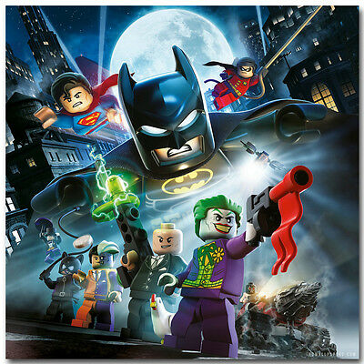 LEGO Movie Batman DC Superhero Art Silk Poster Print 12x12 32x32inch Joker