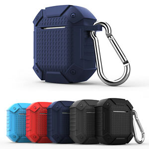 For Apple Airpods Armor Case Heavy Duty Rubber Rugged Earphone Charging Cover Ebay