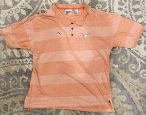 336bd36407a Vintage NCAA Texas Longhorns Reebok Polo Collar Shirt Men s Size 2XL ...