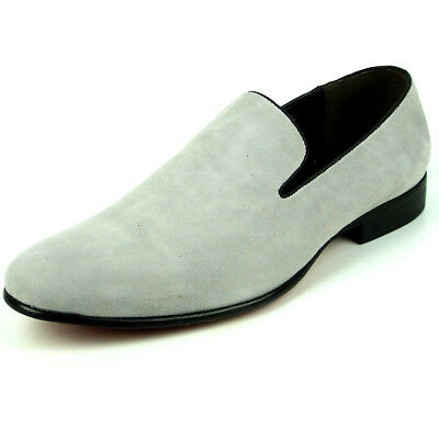 Clothing, Shoes & Accessories Responsible Fi-7216 Grey Suede Fiesso By Aurelio Garcia Smoking Slip On Loafer Strong Resistance To Heat And Hard Wearing