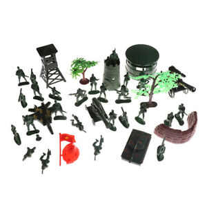 37PCS-Plastic-5CM-Action-Figures-Army-Men-Base-Model-Playset-Toy-Soldiers-Pip-TK