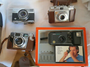 Agfa-lot-of-4-Compact-Optima-1A-500-Pronto-UNTESTED-for-parts-repair