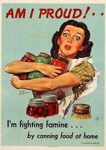 1946 Am I proud! WW2 Propaganda poster wall window guess room USA