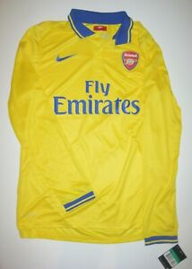 free shipping dbc7d 94bd9 Details about 2013-2014 Player Issue Arsenal FC Nike Long Sleeve Jersey  Away Shirt Kit