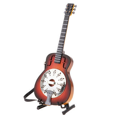 Wooden Electric Guitar Toy #B Dolls House Miniature 1//6 Musical Instrument