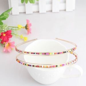 Conscientious New Beautiful Colorful Beads Alice Band Headband Hairband Jewelry Girl Women Uk Easy To Repair Women's Accessories Hair Accessories