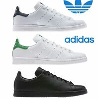 ADIDAS ORIGINALS STAN SMITH TRAINERS WHITE GREEN NAVY BLACK SHOES UK 8 9 10 11