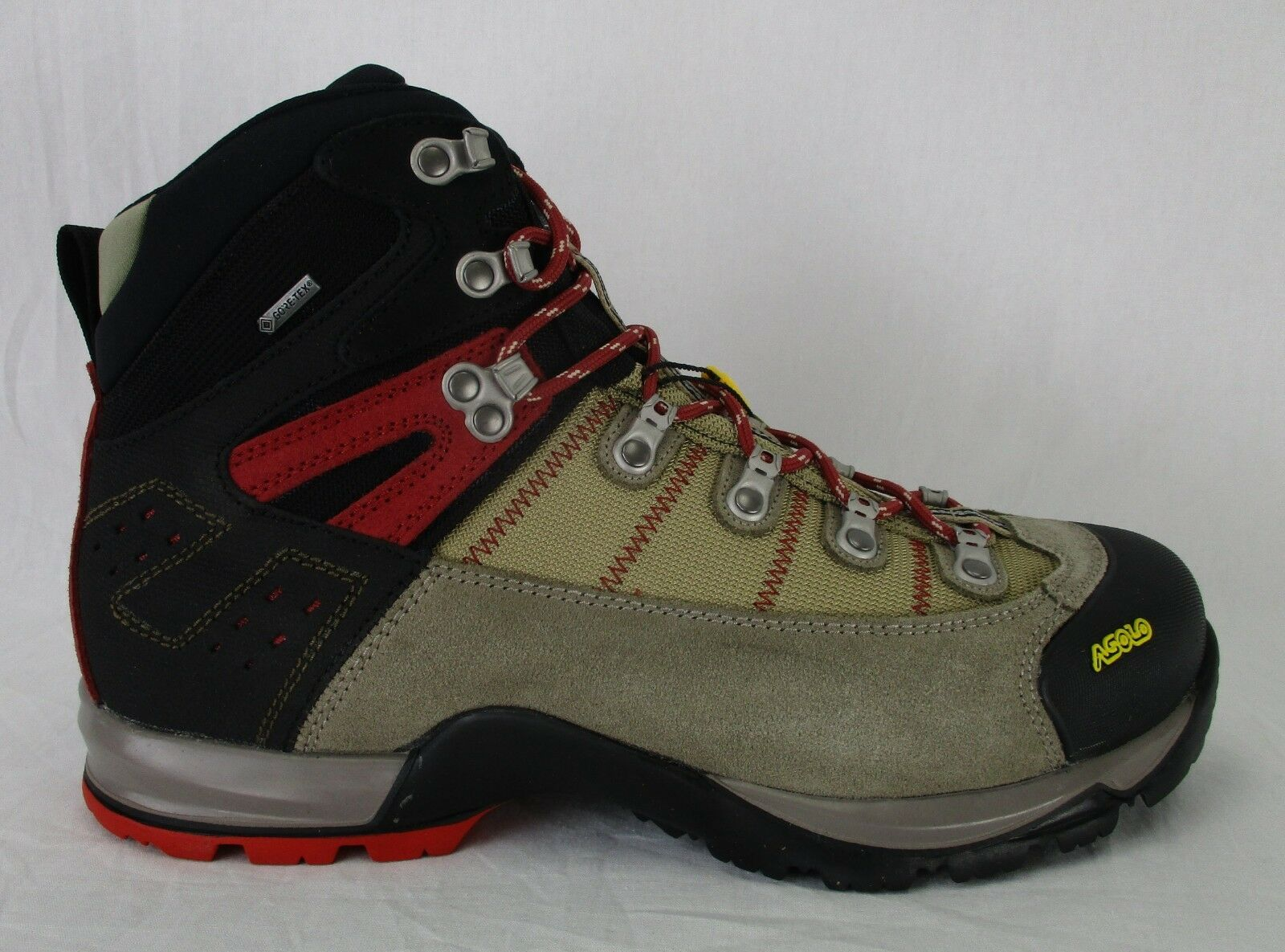 Asolo Mens Fugitive GTX Hiking stivali 0M3440 Wool nero Dimensione 9.5 Wide