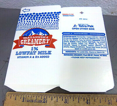 Great cow print box Milk Carton from Matanuska Maid Dairy Palmer Alaska empty