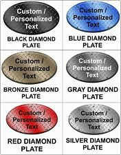 Custompersonalized Oval Sign Choose Background Aluminum Metal Sign