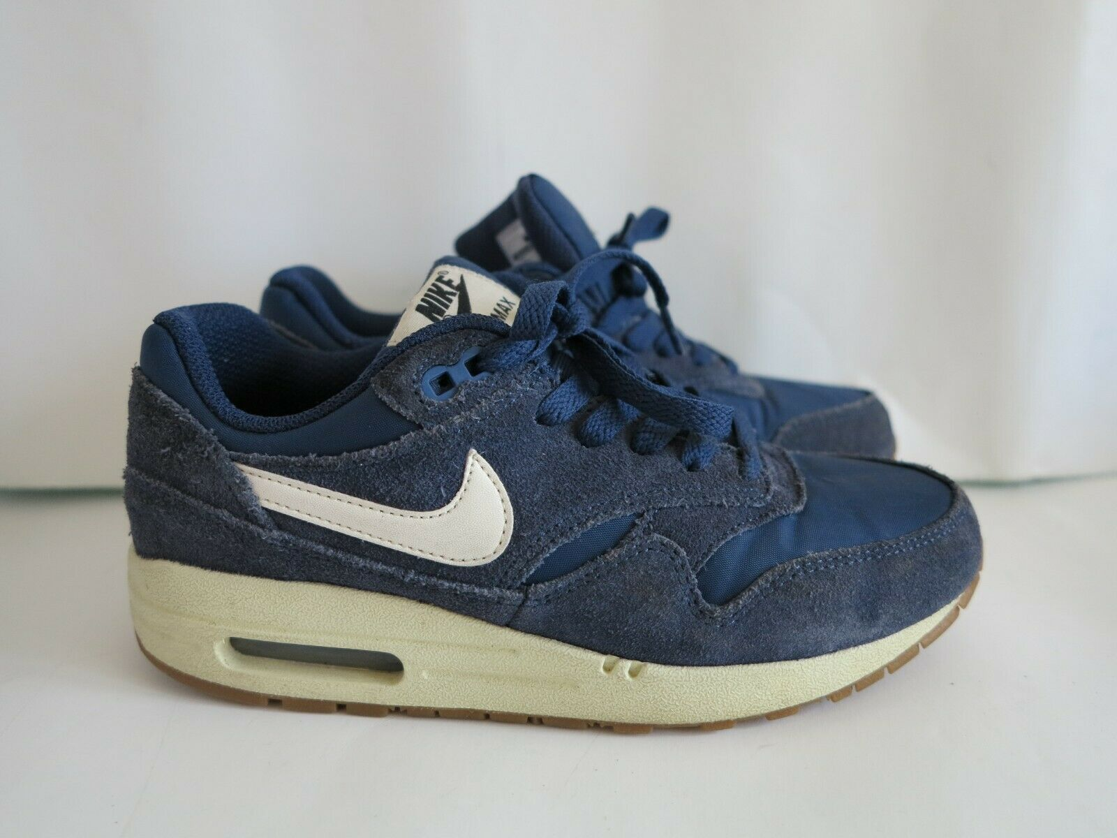 """Unisex's Nike Air Max 1 Essential """"Navy"""" (Suede Pack) Size UK 4"""